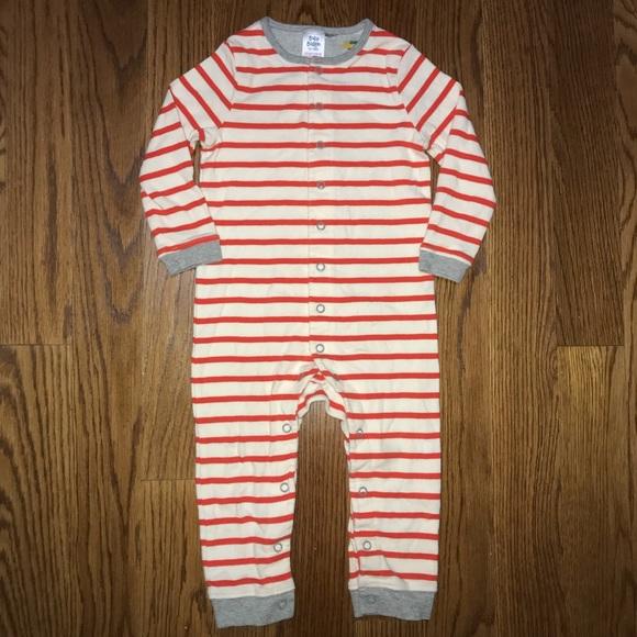 b4fb82f3565a Baby Boden Sleeper Romper Size 12-18m Boys Striped.  M 5ae459fadaa8f632722b41be